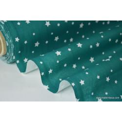 Tissu coton imprimé dessin étoiles multi canard .x1m