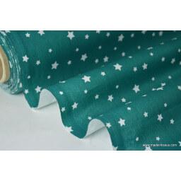 Tissu coton oeko tex imprimé étoiles canard au mètre