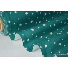 Tissu coton imprimé dessin étoiles multi canard x50cm