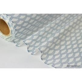 Tissu 100% coton dessin mers  x50cm