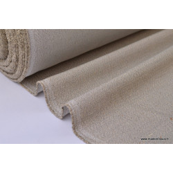 Tissu Sergé lourd coton lin naturel .x 1m