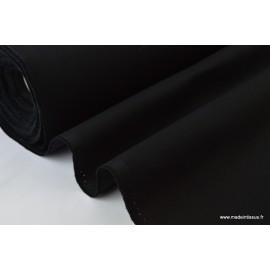 Sergé lourd coton NOIR 300gr/m² x50cm