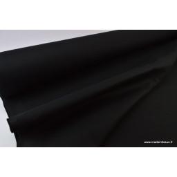 Tissu Sergé lourd coton noir 300gr/m² pour vêtement de travail