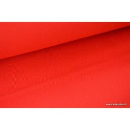 Tissu Sergé lourd coton rouge 300gr/m² pour vêtement de travail