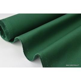 Tissu sergé coton lourd vert 300gr/m²