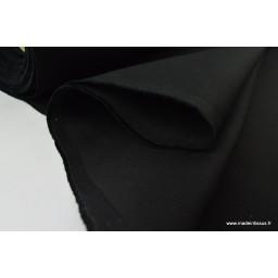 Sergé mi-lourd coton noir 260gr/m² x50cm