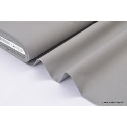 Popeline coton uni gris .x1m