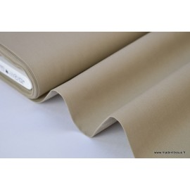 Popeline coton uni sable x50cm