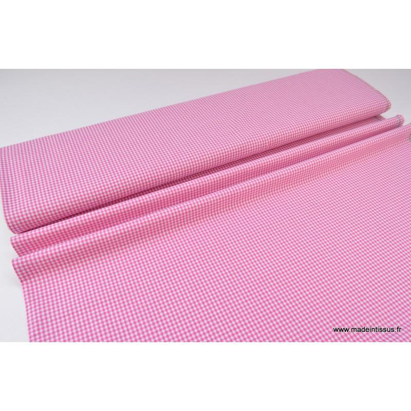 Tissu 100 Coton : tissu vichy en coton petits carreaux fuchsia ~ Teatrodelosmanantiales.com Idées de Décoration