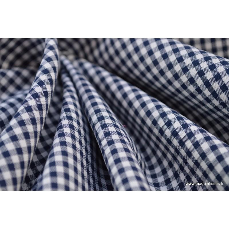 tissu vichy en coton petits carreaux bleu marine. Black Bedroom Furniture Sets. Home Design Ideas
