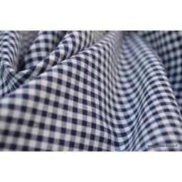 Tissu vichy petits carreaux 100%coton BLEU MARINE  x50cm