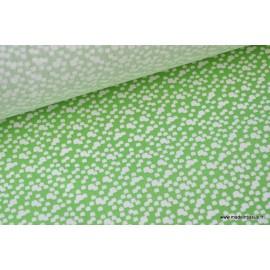 Tissu 100%coton vert et blanc x50cm