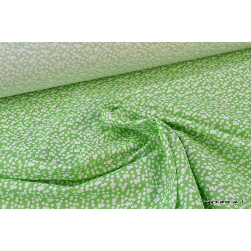 tissu coton imprim vert et blanc pour enfant theme ours au bois. Black Bedroom Furniture Sets. Home Design Ideas