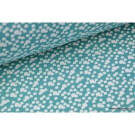 Tissu 100%coton Shelley coloris vert canard x50cm