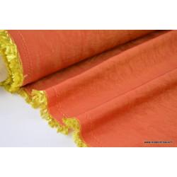 Tissu TAFFETAS changeant ORANGE DORE .