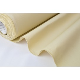 Tissu sergé coton mi-lourd écru 260gr/m²