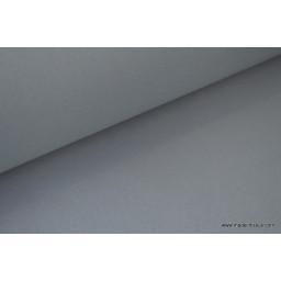 Tissu gabardine imperméable polyester coton gris