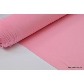 Tissu ultra doux Jersey en viscose Bambou coloris Rose . x1m