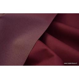Tissu gabardine imperméable polyester coton Bordeaux x50cm