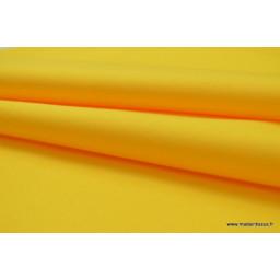 Tissu gabardine imperméable polyester coton Jaune x50cm
