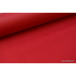Tissu gabardine imperméable polyester coton rouge x50cm