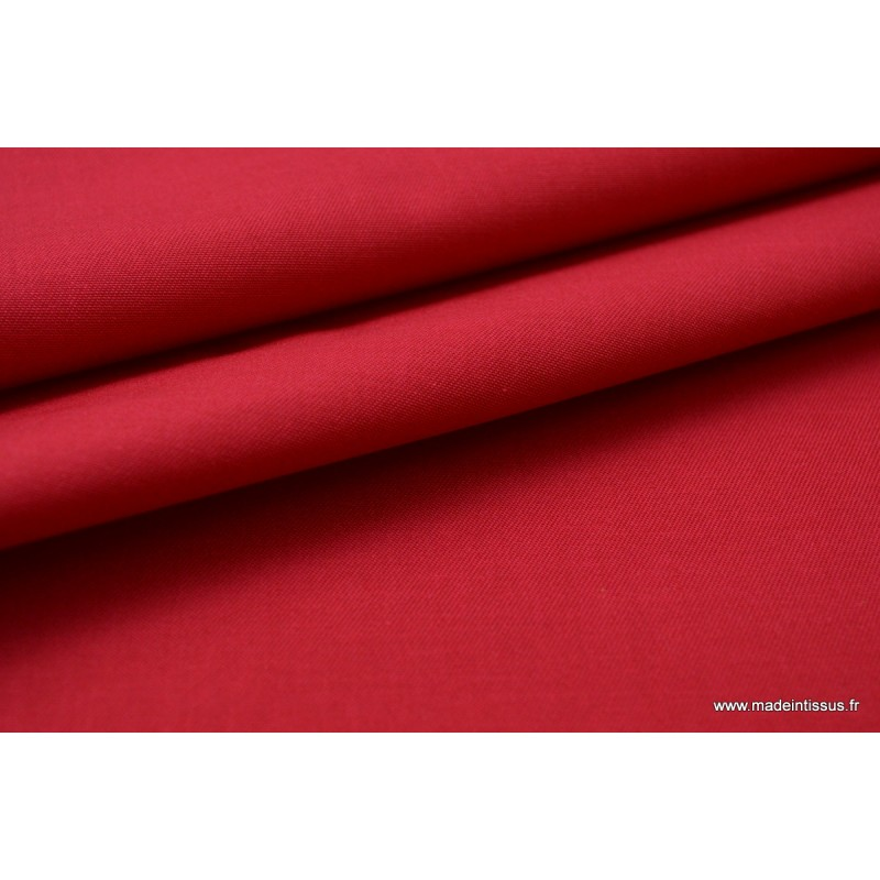 tissu imperm able tanche gabardine polyester coton rouge. Black Bedroom Furniture Sets. Home Design Ideas