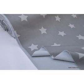 Soft shell imprimé étoiles grises x50cm