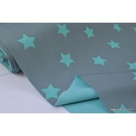Soft shell imprimé étoiles turquoise x50cm