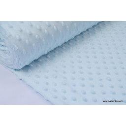 Tissu minky POIS CIEL x50cm