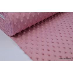 Tissu minky POIS Framboise .x1m
