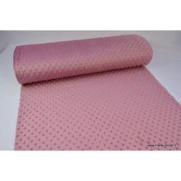 Tissu minky POIS Framboise x50cm