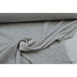 Tissu velours raser pyjamas nicky gris chiné x50cm