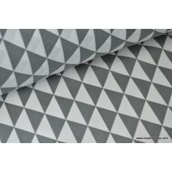Tissu cretonne coton VINTAGE GRIS ANTHRACITE .x1m