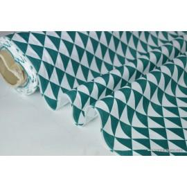 Tissu coton imprimé dessin losanges VINTAGE CANARD .x1m