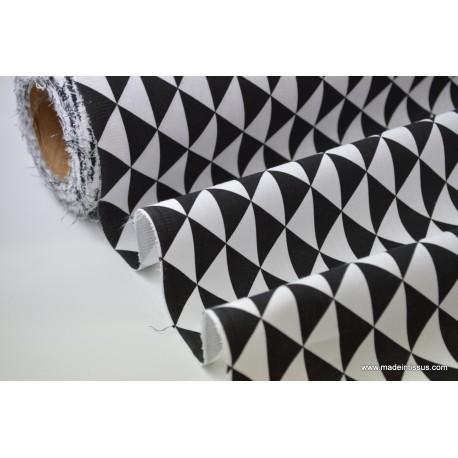 Tissu cretonne coton VINTAGE NOIR par 50cm