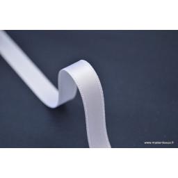 Ruban SATIN double face BLANC , 10 mm, au mètre