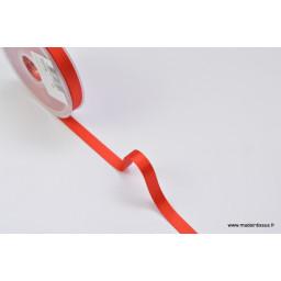 Ruban SATIN double face ROUGE , 10 mm, au mètre