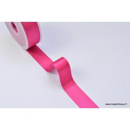 Ruban SATIN double face ROSE FUCHSIA, 25 mm, au mètre