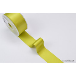 Ruban SATIN VERT ANIS, 38 mm, au mètre