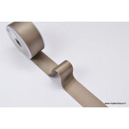 Ruban SATIN TAUPE, 38 mm, au mètre