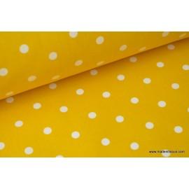 COTON IMPRIME POIS poppins jaune 160CM 135GR/M²