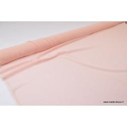 Tissu Mousseline fluide polyester rose poudré x50cm