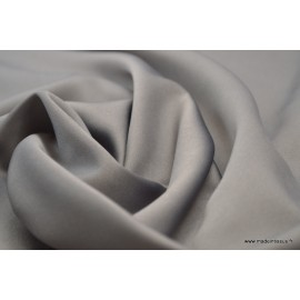 Tissu satin microfibre fluide uni gris x50cm