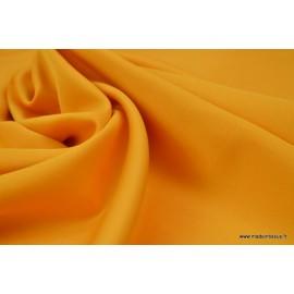 Tissu satin microfibre fluide uni moutarde   .x1m
