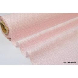 Tissu 100% coton dessin triangles blanc fond rose  x50cm