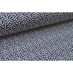 Tissu coton imprimé dessin grains de blé marinex1m