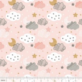 "Coton imprimé NUAGES  ""Sweet Dreams""  de Maude Asbury by Blend Fabrics .x1m"