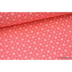 Tissu cretonne coton Fraise imprimé tendance japonaise .x1m