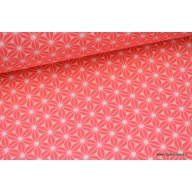 Tissu cretonne coton Fraise imprimé tendance japonaise x50cm