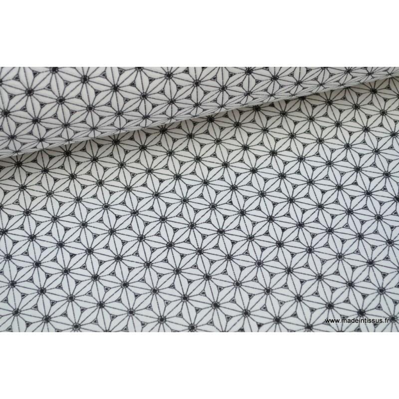 cretonne coton coloris noir et blanc l 39 imprim tendance. Black Bedroom Furniture Sets. Home Design Ideas